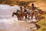 Howard Terpning Crossing The Ford Canvas Sold Out Andndash Limited Edition