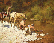 Howard Terpning Prospectors Among The Blackfeet Canvas Sold Out Andndash Limited Editio