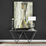 63 W Gavin Console Table Reclaimed Fir Wood Antiqued Black Finish Unique Items