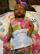 Soft Fully Silicone Reborn Doll 0-3 Month Africanamerican Baby. Life Like Doll.