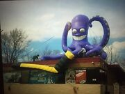 Humongous 25and039x30and039 Inflatable Hockey Octopus. Great For Street Advertising