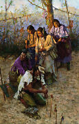 Howard Terpning Offerings To The Little People Canvas Sold Out Limited Edition