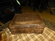 Antique Dovetailed Wood Trinket Box Lot Of 2 For Repair