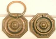 Capehart Radio / Phono 31p4 2 Ornate Brass Door Pullers - 2 And 1/4 X 2 And 1/4