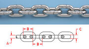 33 Ft 3/8 Din 766 Bbb Stainless Steel Anchor Chain 316 Repl. Suncor S0601-0010
