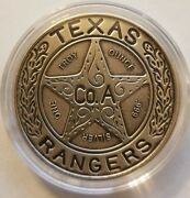 1 Oz .999 Silver Antiqued Texas Ranger Wagon Wheel Badge Chuck Norris Patina