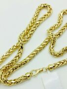 14k Yellow Gold Round Diamond Cut Franco Chain Necklace 24 28 5.2mm