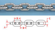 100ft 5/16 Din 766 Bbb Stainless Steel Anchor Chain 316l Repl Suncor S0601-0008