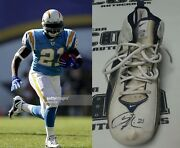 Ladainian Tomlinson Signed 2005 Chargers Football Game Worn Used Cleat Bas Coa
