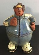 Balloon People JOGGER Clay Sculpture Handcrafted and Signed SARA MEADOWS
