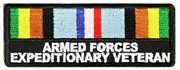 Armed Forces Expeditionary Veteran Ribbon Patch Afem