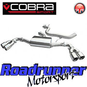 Cobra Audi Tt Mk2 1.8 And 2.0 Tfsi 3 Cat Back Exhaust System Stainless Quad Exit