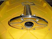 Flush Mount Cast Stainless Steel 90anddeg Fishing Rod Holder And 7 Pop Up Cleat