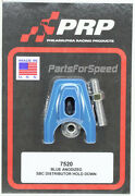 Prp 7520 Blue Anodized Chevy Distributor Hold Down - Made In The Usa