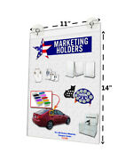 11w X 14h Window Mount Frame Sign Holder With 2 Suction Cups With Hooks Qty 24