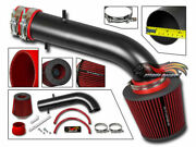 Matte Black Ram Air Intake Kit + Red Filter For 97-99 Acura Cl 3.0l Coupe V6