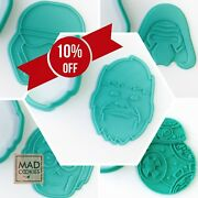 New Star Wars Collection Set Cookie Cutters - 6pcs - Plastic 3d Printed Pla