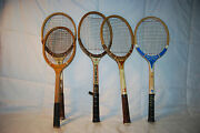 Vintage Lot Of Assorted Tennis Raquets Roddy, Chemold, Spaulding And Young Star
