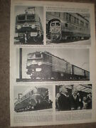 Photo Article France Sets New Train Speed Records Near Bordeaux 1955 Ref Z