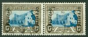Sg 029 South Africa 1935-49 Official At Left. 10/- Pair Very Fine Used Cat Andpound500