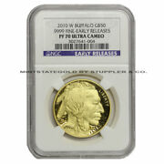 2010-w 50 Gold Buffalo Ngc Pf70ucam Early Releases Proof Ultra Cameo Coin Er