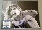 Alice Cooper Signed Black And White 11x14 Photo With Beckett Authentication