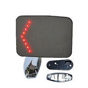 Truck Square Rectangle Chrome Outside Rearview Led Turn Signal Lh Door Mirror