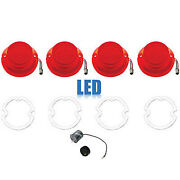 64 Chevy Impala Bel Air Biscayne Red Led Tail Light Lens Gasket And Flasher Set