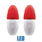 54 1954 Chevy Passenger Car Rear Clear Red Led Tail And Back Up Light Lenses Set