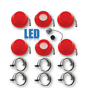 64 Chevy Impala Led Tail And Back Up Light Lenses And Chrome Trim W/ Flasher Set