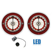 63 Chevy Impala Bel Air Biscayne Back Up Reverse Light Assembly And Flasher Pair