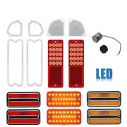 67-68 Chevy Gmc Truck Led Sequential Red Tail Marker Park Light Lenses Set Nh