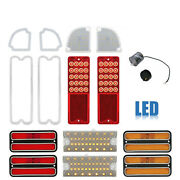 69-70 Chevy And Gmc Truck Led Sequential Tail Side Marker Park Light Lenses Set Nh