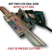 Imt Pro Lite Wet Cutting Makita Motor Rail, Track Saw For Granite With 12ft Rail