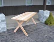 Aandl Furniture Co Amish-made Cedar Cross-leg Picnic Tables - Available In 4 Sizes