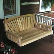Aandl Furniture Co. Amish-made Cedar Fanback Swing Beds Available In 3 Sizes