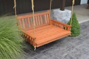 Aandl Furniture Amish-made Cedar Traditional English Swing Beds - 4 Stain Options
