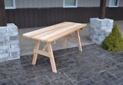 Aandl Furniture Co. Amish-made Cedar Traditional Picnic Tables - 4 Size Options