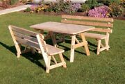 Aandl Furniture Amish-made Cedar Traditional Picnic Tables With Backed Benches