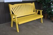 Aandl Furniture Co. Amish-made Pine Fanback Garden Benches - 3 Sizes And 18 Colors