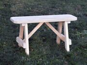 Aandl Furniture Co. Amish-made Pine Traditional A-frame Benches - 6 Size Options