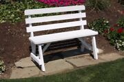 Aandl Furniture Co. Amish-made Pine Traditional Backed Benches - 6 Size Options