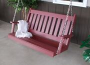 Aandl Furniture Co. Amish-made Poly Traditional English Porch Swings - In 2 Sizes