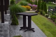 Aandl Furniture Co. Amish-made Poly Bar Tables - Available In 3 Sizes And 13 Colors