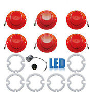 62 Chevy Impala Led Tail And Back Up Light Lenses W/ Gaskets And Flasher Set Of 6