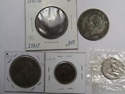 5 Coins Of Italy 1862 10c 1893 10c 1910-r 20c 1925-r 2l And 1931-r 5c. 16