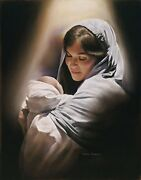 Love Mary And Baby Jesus Print Picture By David Bowman Religious Art Madonna Child