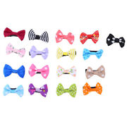 20/50 Baby Girland039s Mixed Colors Ribbon Hair Bow Mini Latch Clips Safe Hair Clip S