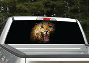 Leopard Jaguar Growling Rear Window Decal Graphic For Truck Suv - 4 Sizes