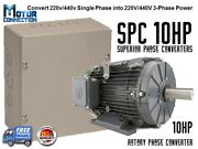 Rotary Phase Converter - 10 Hp - Create 3 Phase Power From Single Phase Supply
